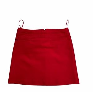 MEXX hy050F red lined a-line miniskirt w/ pockets